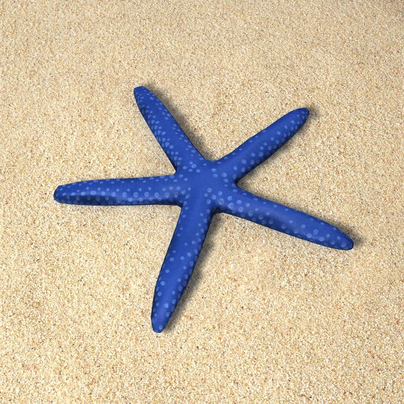 star fish starfish 3d max