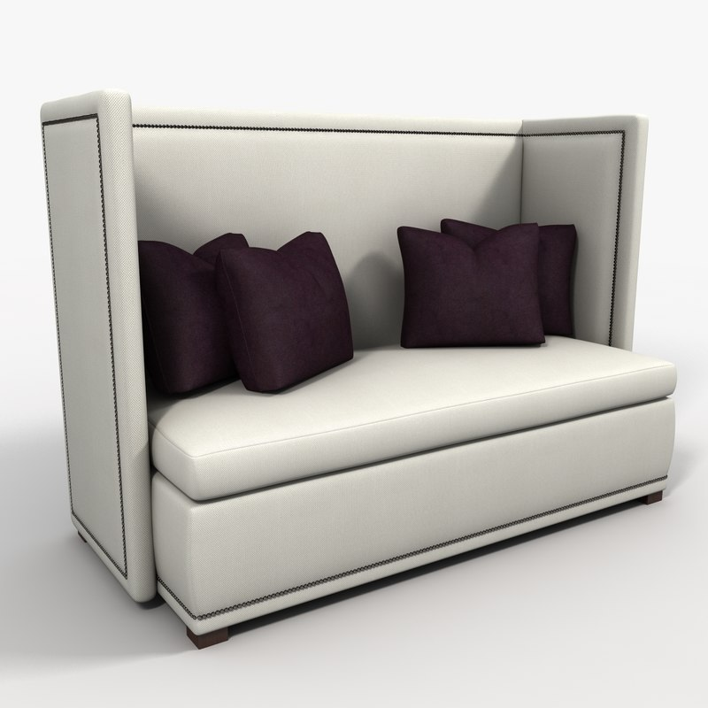 banquette seating 3d max