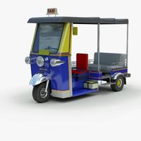 3d model tuk rickshaw