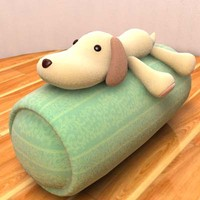 3d stuffed dog