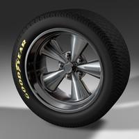mag wheel tire 3d model