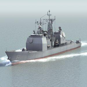 navy ticonderoga cruiser 3d model