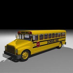 3d model schoolbus school bus