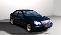 3d realistic c class mercedes model