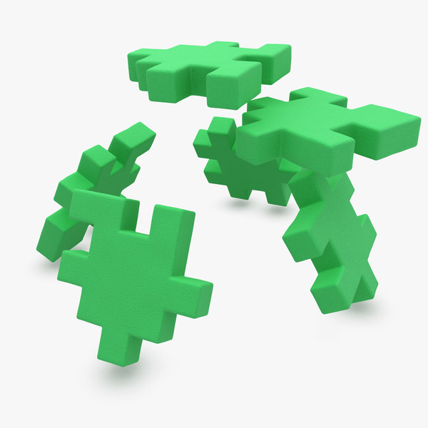 3d happy cube green animation