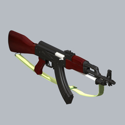 gun bullets 3d model