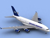 airbus a380-800 aerolineas argentinas 3d model