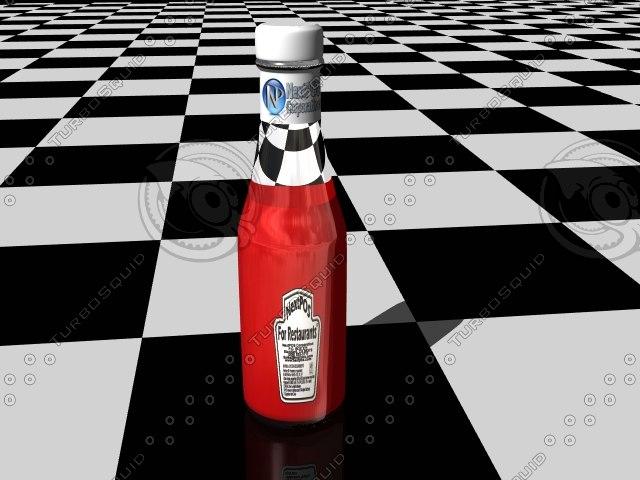 ketsup bottle 3d model