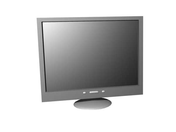 3d model of tft monitor