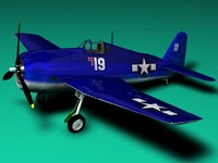 3d hellcat airplanes model
