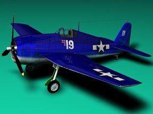 3d hellcat airplanes model