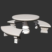 3ds max bench set
