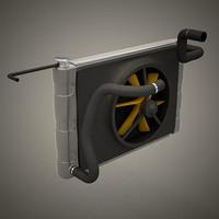 3d car riator model