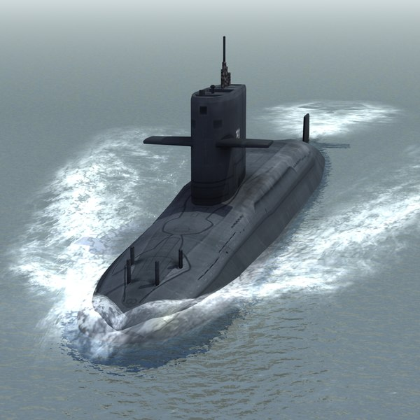 3d hai lung attack submarine