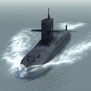 3d hai lung attack submarine