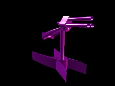 3d model purple plasma turret