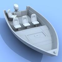 3d model boat motorboat