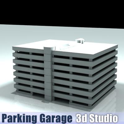 3d model parking structure garage