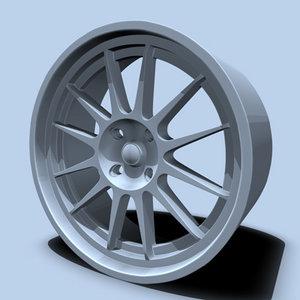 3d imitation rim model