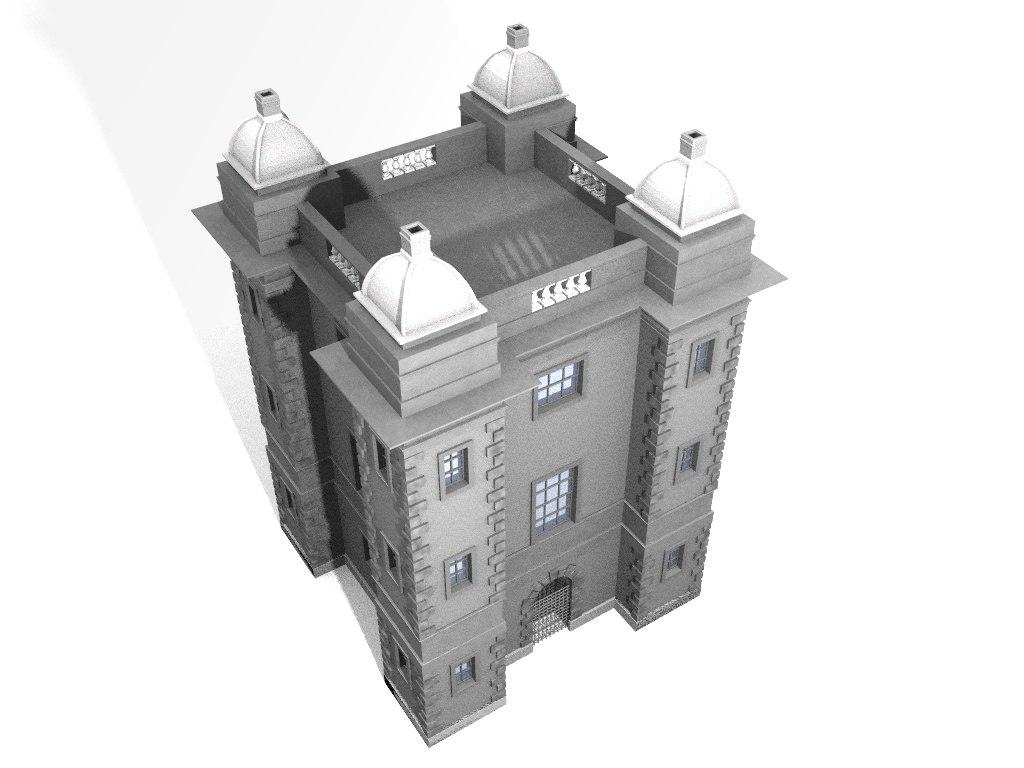 chateau building 3d model
