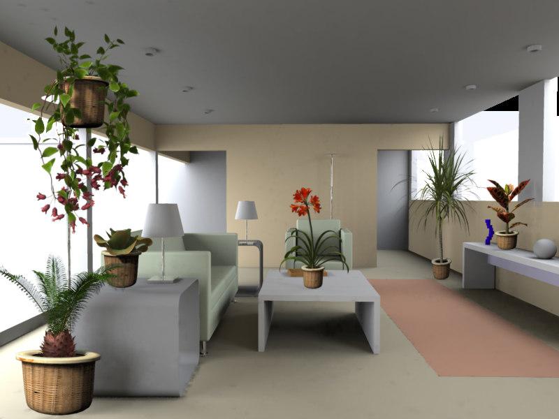 plants xfrogplants houseplants 3d model