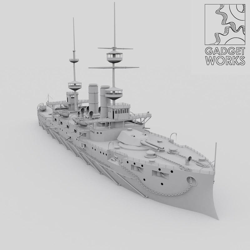 hms irresistible 3d model