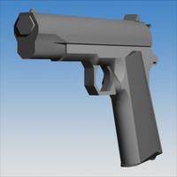 3ds max 45 acp pistol