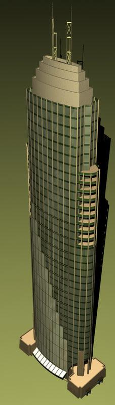 building highrise office 3d model