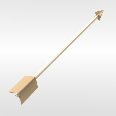 bow arrow 3d model