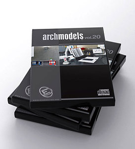 archmodels 20 office 3d model