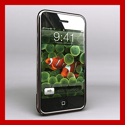 3d new apple iphone model