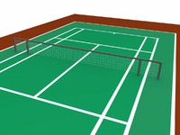 tennis court arena 3d model
