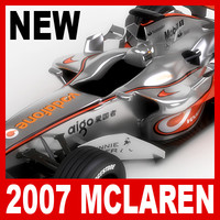 2007 vodafone mclaren mercedes 3d model