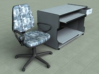 table chair 3d 3ds