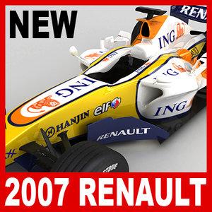 3d model 2007 f1 ing renault r27