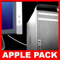 apple mac pro display 3d model