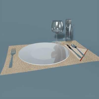 3d table setting model