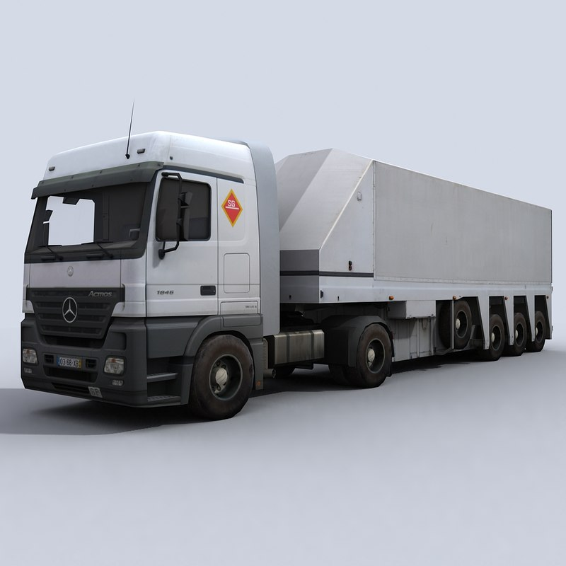 float glass transport truck 3d model