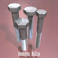3ds max hexagon bolts