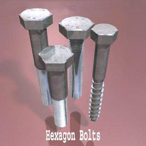 3ds max hexagon bolts