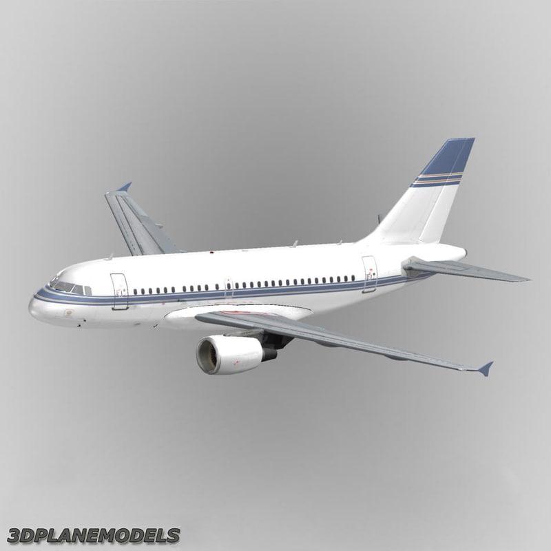 3d model airbus a318 private a-318