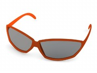 3d glass sun sunglasses model