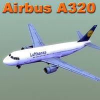 3d a320 airbus model