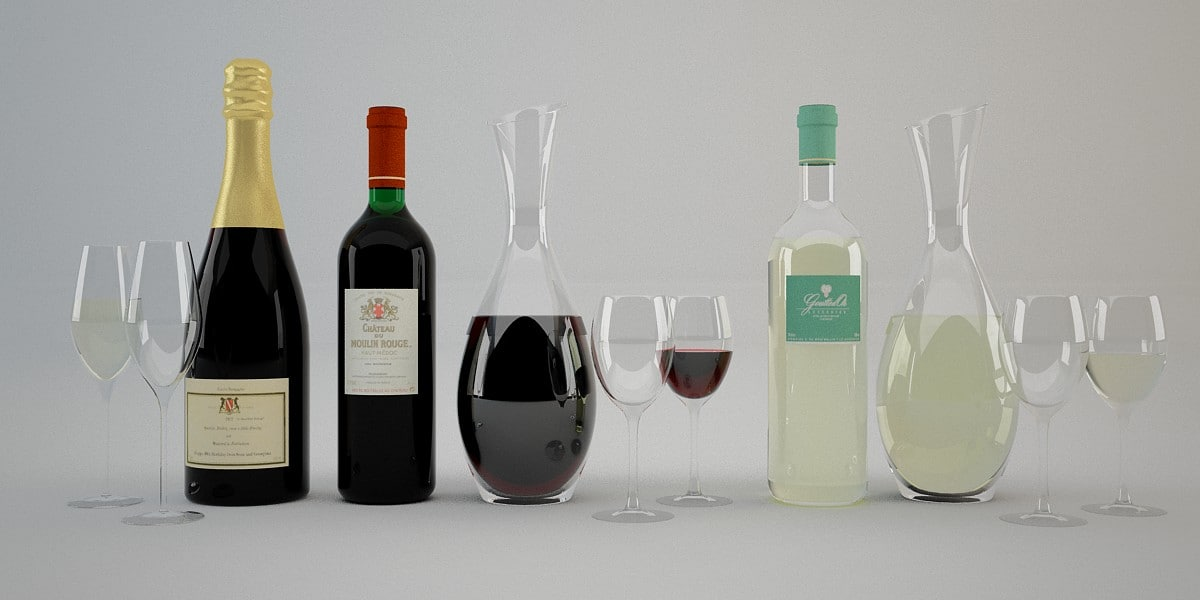 max photoreal wine