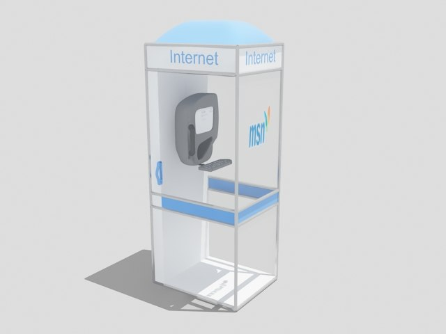 3d model internet booth