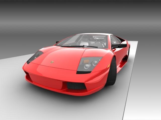 lamborghini murcielago car 3d model
