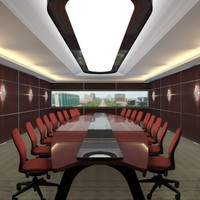 3d model office meeting room