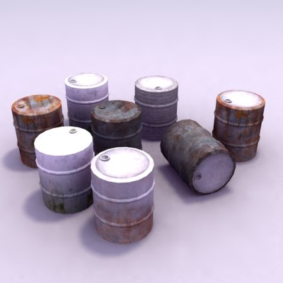 barrel drums 3d model