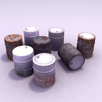 barrel drums 3d model