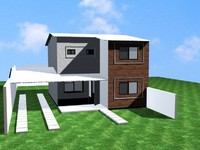 little townhouse 3d max